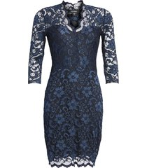 women's karen kane scalloped lace cocktail dress, size x-large - blue