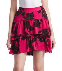 baxter silk mini skirt