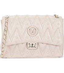 valentino by mario valentino women's posh studded leather shoulder bag - tan