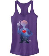 fifth sun e.t. terrestrial universe silhouette heart ideal racer back tank