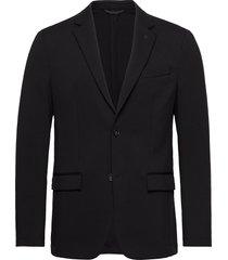 solid jersey casual blazer blazer colbert zwart calvin klein