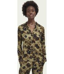 scotch & soda blouse met patroon van lenzing™ ecovero™