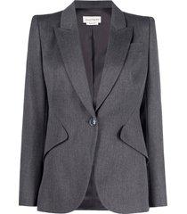 alexander mcqueen mixed wool jacket