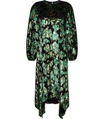gus, 1022 velvet jacquard dresses party dresses groen stine goya