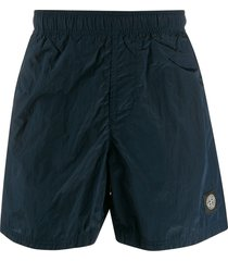 stone island swim shorts - blue