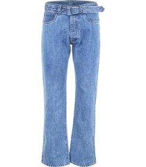 prada jeans with triangle logo