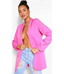 getailleerde blazer, warm roze