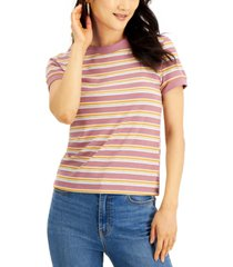 hippie rose juniors' ribbed ringer t-shirt