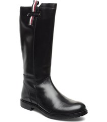 boot black höga stövlar svart tommy hilfiger