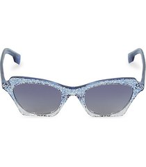 49mm glitter square sunglasses
