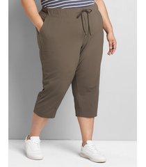 lane bryant women's livi stretch trouser capri 38/40 black olive