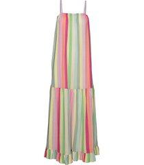 linen stripe desma jurk knielengte multi/patroon mads nørgaard