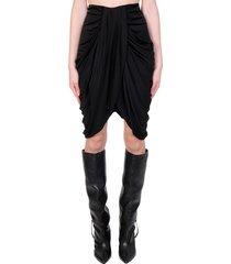 isabel marant dotina skirt in black viscose
