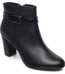 alayna juno shoes boots ankle boots ankle boot - heel svart clarks