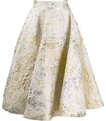 dolce & gabbana jacquard full skirt - silver