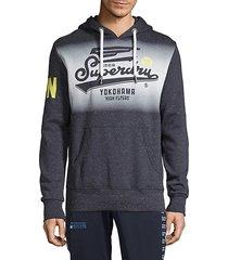 graphic logo cotton-blend hoodie
