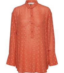 affair blouse lange mouwen oranje munthe