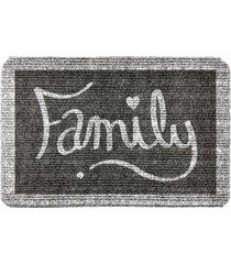 capacho carpet family cinza ãšnico love decor - cinza - dafiti