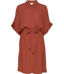 ariana shirt dress boozt korte jurk oranje minus