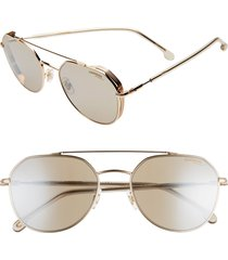 men's carrera eyewear 56mm polarized aviator sunglasses - rose gold