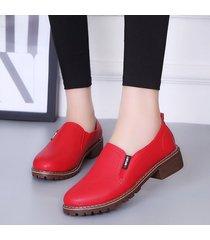 zapatos planos pu con cordones y punta redonda zapatos oxford mujer