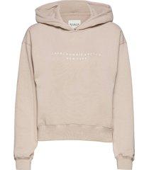 anf womens sweatshirts hoodie beige abercrombie & fitch