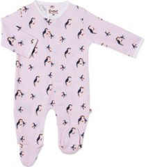baby girl toucan do magnetic footie one piece