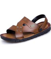 sandalias para hombre zapatos casuales material de pvc-marron