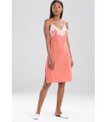 natori luxe shangri-la chemise pajamas, women's, pink, size s natori