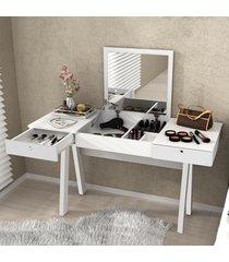 penteadeira escrivaninha pe2002 branco - tecno mobili
