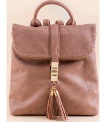 women's danielle tassel lock backpack in blush by francesca's - size: one size