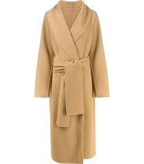 gauge81 oversized tie-waist coat - neutrals