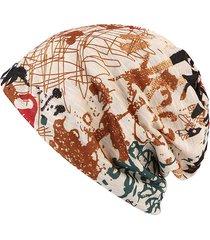 donne graffiti skullies berretti copricapo caldo cotone copricapo cappello multifunzione asciugamano