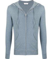sandro paris knitted hoodie - blue
