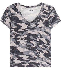 camiseta camuflada mujer color gris, talla 10