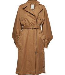 posgwendolen coat trenchcoat lange jas bruin postyr