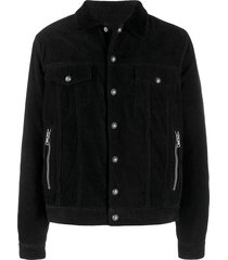 balmain corduroy single-breasted jacket - black