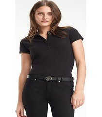 polo heritage corte slim negro tommy hilfiger