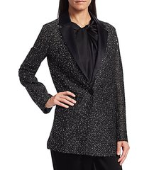beaded knit tuxedo jacket