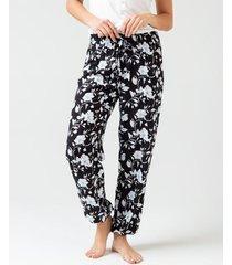 pantalón pijama estampado floral