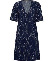 kalviniw wrap dress dresses wrap dresses blå inwear