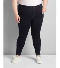 lane bryant women's straight fit high-rise skinny jean- dark wash 26 dark denim
