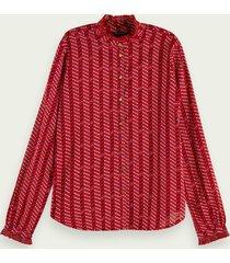 scotch & soda blouse met lange mouwen van biologisch katoen
