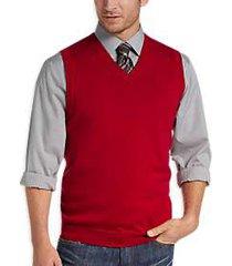 joseph abboud red v-neck modern fit sweater vest