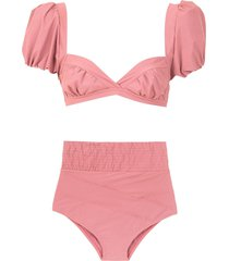 amir slama hot pants bikini set - neutrals