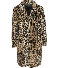 dsquared2 leopard print coat