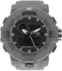reloj digital análogo gris umbro