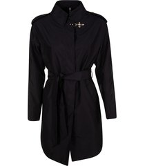 fay belted mid-length jacket