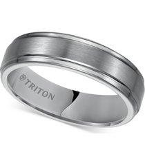 triton men's tungsten carbide ring, 6mm comfort fit wedding band