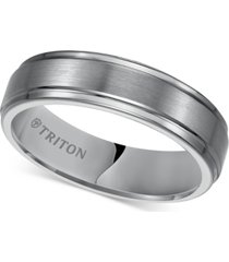 triton men's tungsten carbide ring, 6mm comfort fit wedding band